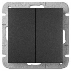 Unterputz Serienschalter Lichtschalter 10A schwarz Premium serie SENTIA,Elektro-Plast,1411-19, 5902431696492
