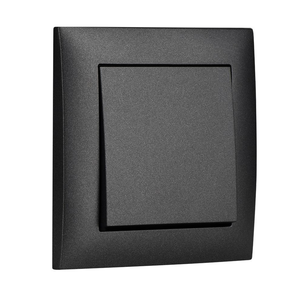 Unterputz Wechselschalter Lichtschalter 10A schwarz Premium serie SENTIA,Elektro-Plast,1412-19, 5902431696508