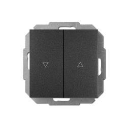Unterputz Jalousien Taster 10A schwarz Premium serie SENTIA,Elektro-Plast,1416-19, 5902431696546