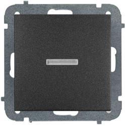 Unterputz Lichtschalter Beleuchtet 10A schwarz Premium serie SENTIA,Elektro-Plast,1423-19, 5902431696584