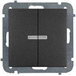 Unterputz Serienschalter Belechtet Lichtschalter schwarz Premium serie SENTIA,Elektro-Plast,1424-19, 5902431696591