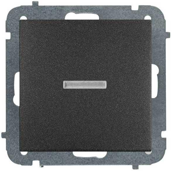 Unterputz Taster Licht Beleuchtet 10A schwarz Premium serie SENTIA,Elektro-Plast,1426-19, 5902431696614