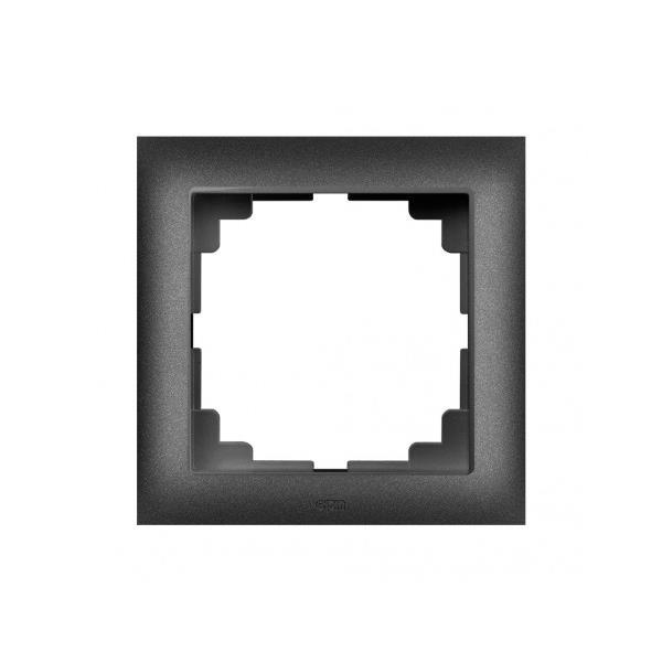 Universal Rahmen 1-fach schwarz Premium serie SENTIA,Elektro-Plast,1471-19, 5902431694849