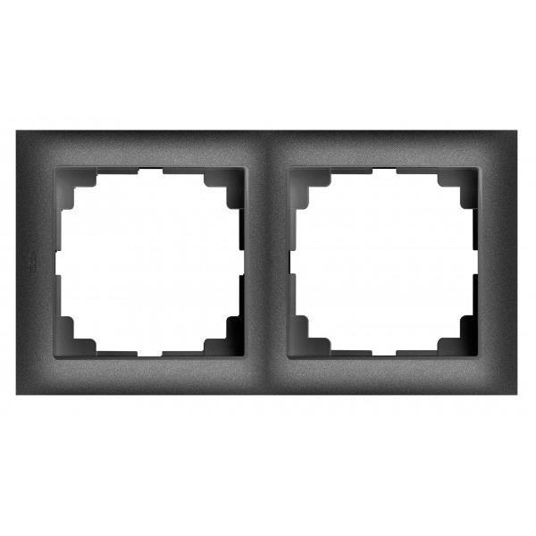 Universal Rahmen 2-fach schwarz Premium serie SENTIA,Elektro-Plast,1472-19, 5902431695013
