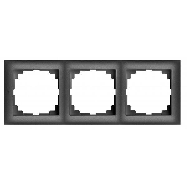 Universal Rahmen 3-fach schwarz Premium serie SENTIA,Elektro-Plast,1473-19, 5902431695020