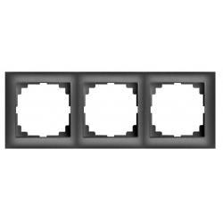 Universal Rahmen 3-fach schwarz Premium serie SENTIA