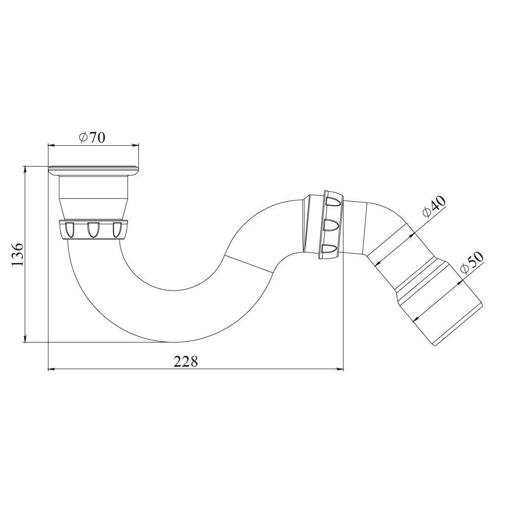 Duschwanne Siphon  Bad Sifon Geruchverschluss Ablaufgarnitur mit Edelstahlgitter,chud,G 31 E, 8595587421727