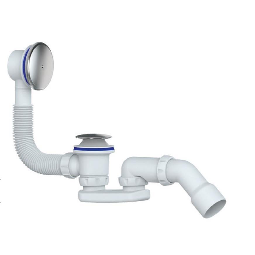 Multiplex Badewannensiphon Abl - Überlaufgarnitur Geruchverschluß Siphon,chud,S 121 E, 8595587421796