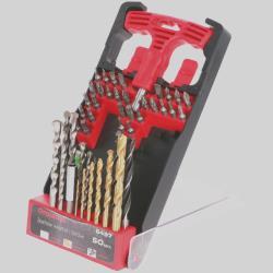 Werkzeug Set 50 tlg Metallbohrer Holzbohrer Steinbohrer Bits Bithalter ,draumet,6497, 5907078964973
