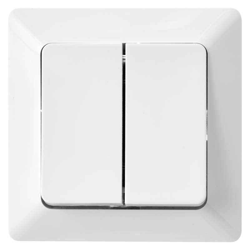 Doppel Wechselschalter Unterputz Serienschalter 10A230V Lichtschalter Serie EMOS,EMOS,A6100.3, 8592920074701