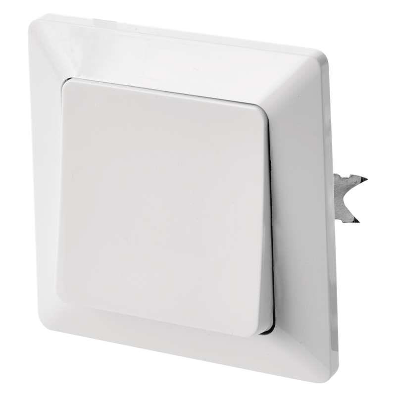 Taster Klingel/Licht Unterputz weiß 10 A  Schalter licht Serie EMOS,EMOS,A6100.4, 8592920074640