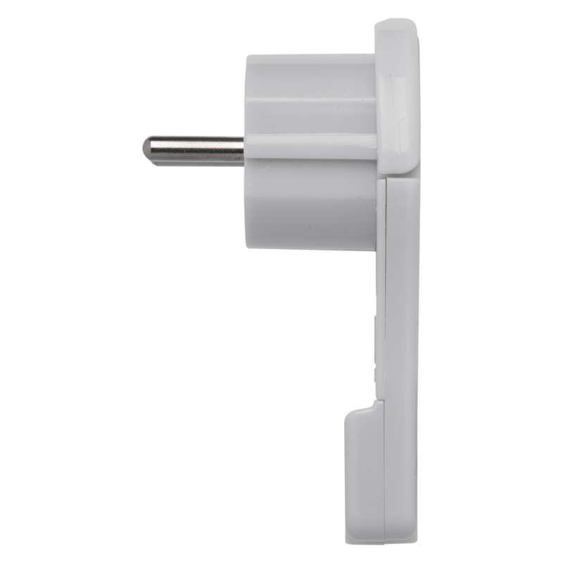 Schuko Stecker flach Winkelstecker Flachstecker Weiß ultradünner IP20,EMOS,P0066, 8592920038284