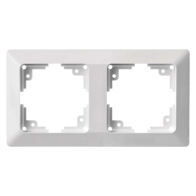 Doppel zweifach Rahmen Steckdose Lichtschalter Zweifachrahmen Serie EMOS,EMOS,A6004.0, 8592920074855