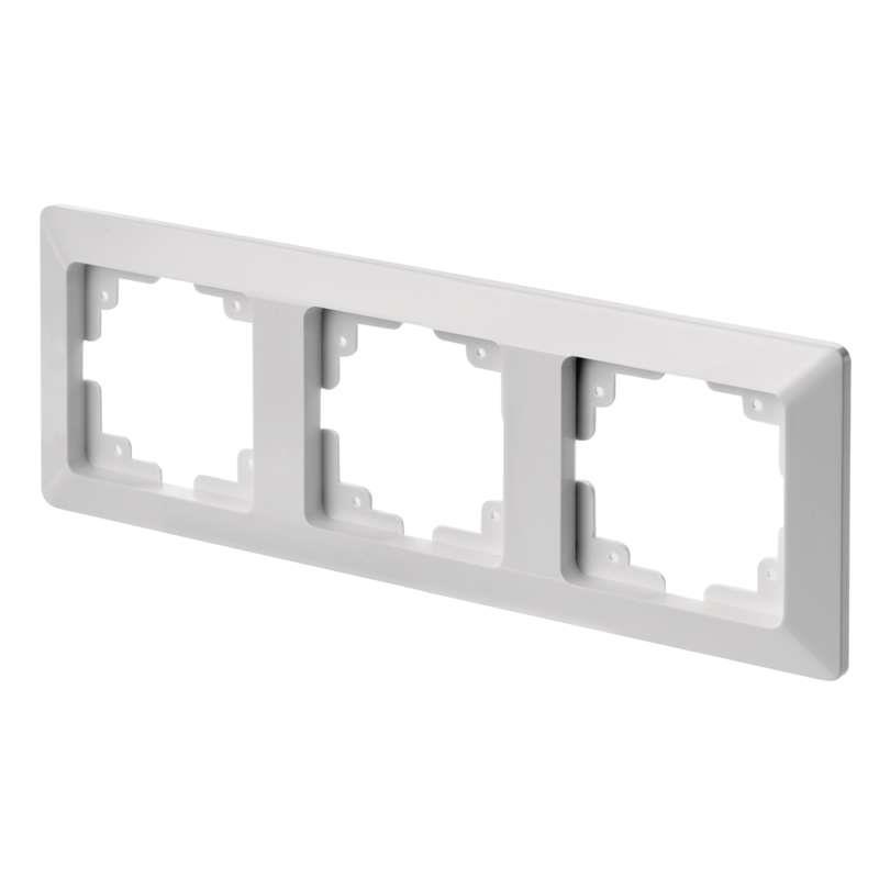 Dreifach Rahmen Steckdose Lichtschalter Dreifachrahmen 3 fach Serie EMOS,EMOS,A6004.1, 8592920074886