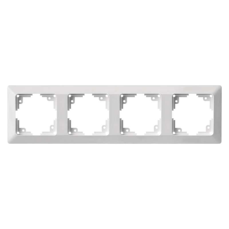 Vierfach Rahmen Steckdose Lichtschalter Vierfachrahmen 4 fach Serie EMOS,EMOS,A6004.2, 8592920074916