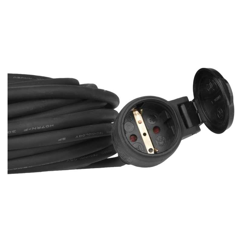 10m Strom Verlängerungskabel Kabel 3x1,5mm² Schuko Verlängerung 16A Gummi IP44,EMOS,P01810, 8592920011058