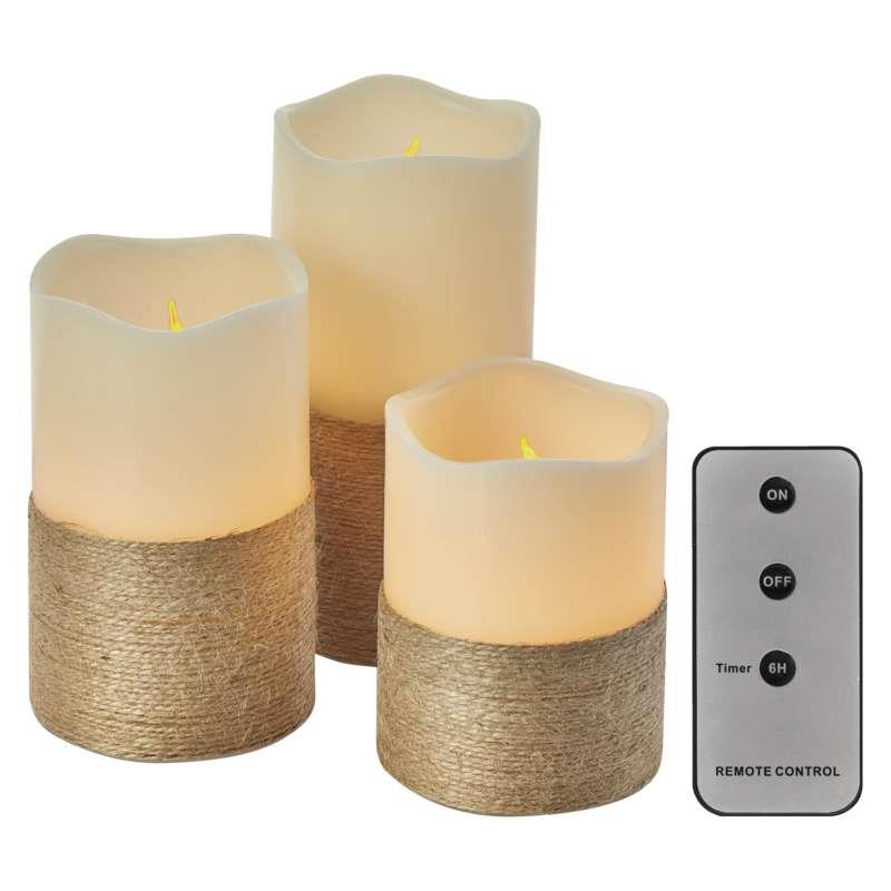 3 LED Kerzen mit Fernbedienung Timer Kerze bewegliche flackernd warmweiss,EMOS,ZY2141, 8592920061664