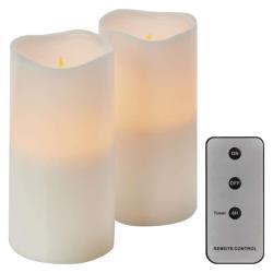 2 LED Kerzen mit Fernbedienung Timer Kerze bewegliche flackernd warmweiss