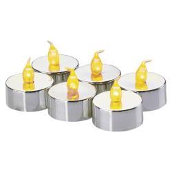6x LED Teelichter Set mit Batterie flackernd Kerzen Teelicht elektrische warm