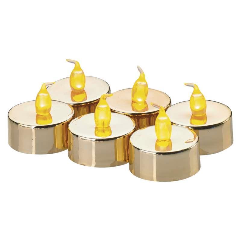 6x LED Teelichter Set mit Batterie flackernd Kerzen Teelicht elektrische warm,EMOS,ZY2151, 8592920061763