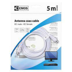 5m Antennen Koaxialkabel SAT TV Kabel Antennenkabel mit Konnektoren