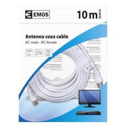 10m Antennen Koaxialkabel SAT TV Kabel Antennenkabel mit Konnektoren