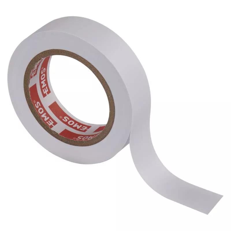 Rolle Weiß Elektriker Klebeband PVC Isolierband Isoband - 15mm x 10m,EMOS,F61511, 8595025313218