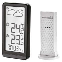 Funk Wetterstation Thermometer Funkuhr DCF Innen + Außen Sensor