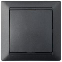 Lichtschalter Unterputz Ein/Aus 10A Premium serie STILE Graphit