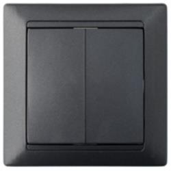 Serienschalter Unterputz Lichtschalter 10A Premium serie STILE Graphit
