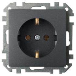 Schuko Steckdose Unterputz (Ohne Rahmen) 16A Premium serie STILE Graphit,Bylectrica,PC16-525-33, 4810158053904