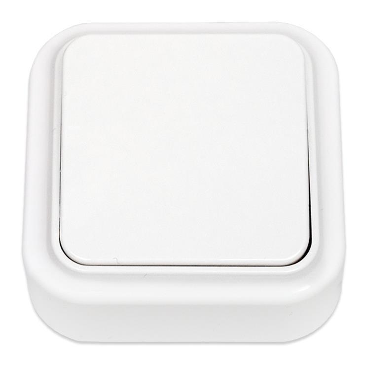 Lichtschalter Aufputz IP20 farbe weiß, serie Praleska,Bylectrica,A16-131, 4810158001196