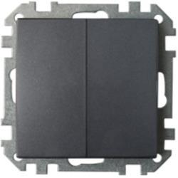 Serienschalter Unterputz (Ohne Rahmen) 10A Premium serie STILE Graphit