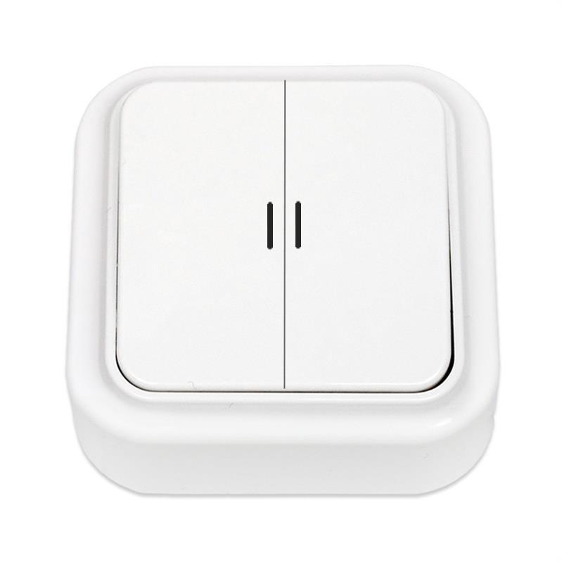 Serienschalter Aufputz Lichtschalter Beleuchtet, IP20 farbe weiß, serie Praleska,Bylectica,A510-215, 4810158002742