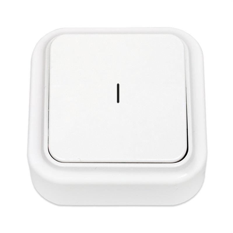 Lichtschalter Aufputz Beleuchtet, IP20 farbe weiß, serie Praleska,Bylectrica,A110-214, 4810158002735
