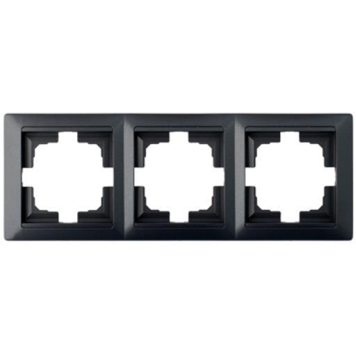 Universal Rahmen 3-fach Premium serie STILE Graphit,Bylectrica,735212.216-33, 4810158053997