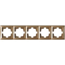 Universal Rahmen 5-fach Premium serie STILE Bronze
