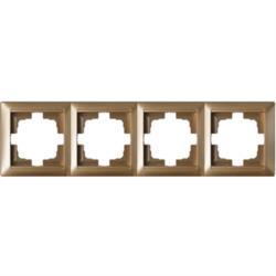 Universal Rahmen 4-fach Premium serie STILE Bronze