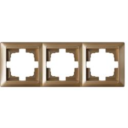 Universal Rahmen 3-fach Premium serie STILE Bronze