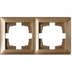 Universal Rahmen 2-fach Premium serie STILE Bronze