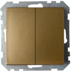 Serienschalter Unterputz (Ohne Rahmen) 10A Premium serie STILE Bronze