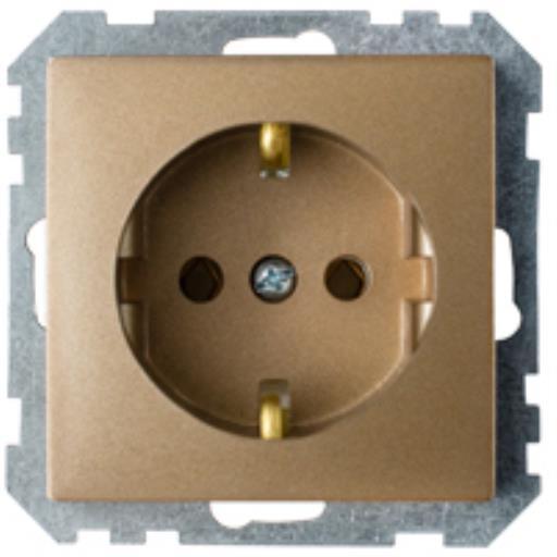 Schuko Steckdose Unterputz (Ohne Rahmen) 16A Premium serie STILE Bronze,Bylectrica,PC16-525-20, 4810158032947