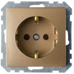 Schuko Steckdose Unterputz (Ohne Rahmen) 16A Premium serie STILE Bronze