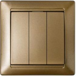 Dreifach Schalter Unterputz Lichtschalter 10A Premium serie STILE Bronze