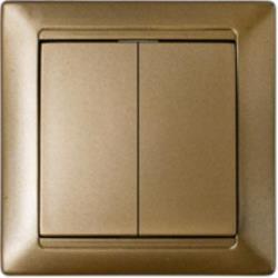 Serienschalter Unterputz Lichtschalter 10A Premium serie STILE Bronze