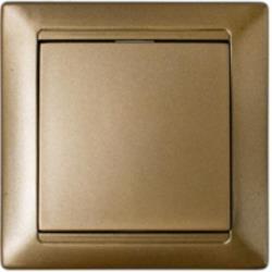 Lichtschalter Unterputz Ein/Aus 10A Premium serie STILE Bronze