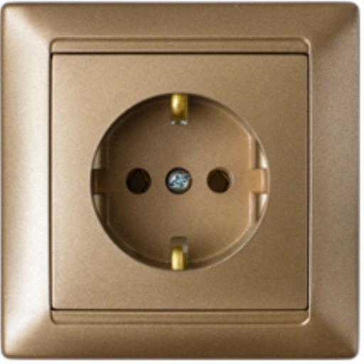 Lichtschalter Unterputz Ein//Aus 10A Premium serie STILE Bronze