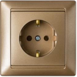 Schuko Steckdose Unterputz 16A Premium serie STILE Bronze