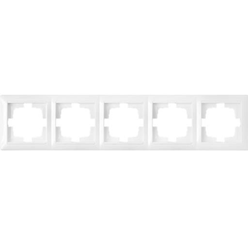 Universal Rahmen 5-fach Premium serie STILE Weiß,Bylectrica,735212.297-00, 4810158024423