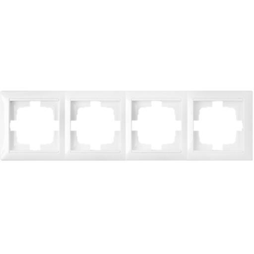 Universal Rahmen 4-fach Premium serie STILE Weiß,Bylectrica,735212.217-00, 4810158011201